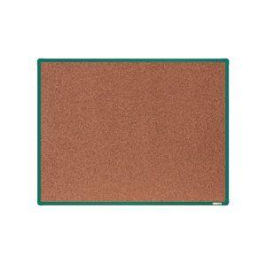 boardOK Korková tabule s hliníkovým rámem 120 × 90 cm, zelený rám