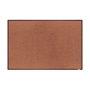 boardOK Korková tabule s hliníkovým rámem 180 × 120 cm, hnědý rám