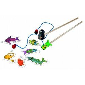 Krteček rybářem - magnetická hra