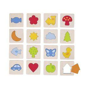 Hmatová hra - poznej tvar v rámečku
