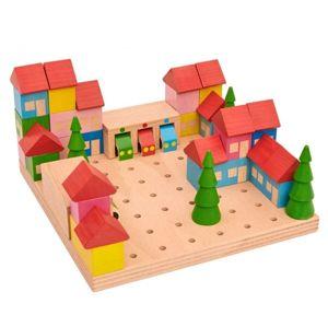 Dřevěná stavebnice Městečko, 45 dílů