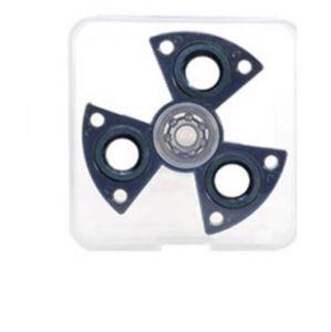Fidget Spinner růžový v atraktivním tvaru, chrom, kvalitní kovový v PVC boxu