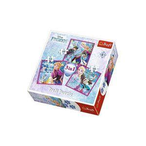 Puzzle 3 v 1 Frozen/ Ledové Království