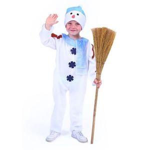 Kostým sněhulák s čepicí a modrou šálou - vel. M