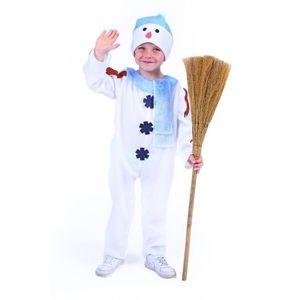 Kostým sněhulák s čepicí a modrou šálou - vel. S