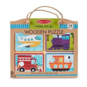 Dřevěné puzzle na cestu Dopravní prostředky