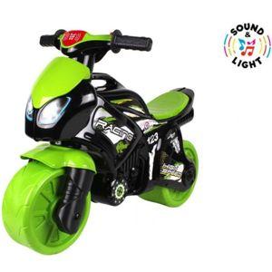 Odrážedlo motorka zeleno - černá plast se světlem se zvukem 36 x 53 x 74 cm