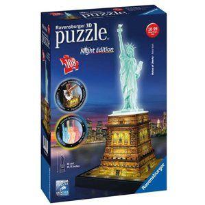Puzzle 3D Socha Svobody (Noční edice), 108 dílů