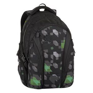 Studentský batoh Bagmaster - BAG 8 G BLACK/GREEN/GRAY