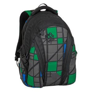 Studentský batoh Bagmaster - BAG 8 H BLACK/GRAY/GREEN