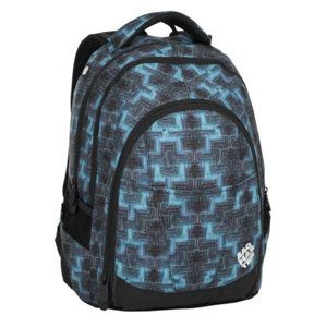 Studentský batoh Bagmaster - DIGITAL 8 C BLACK/BLUE/GREEN