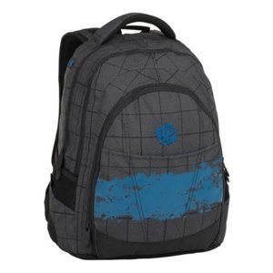 Studentský batoh Bagmaster - DIGITAL 8 D BLACK/GRAY/BLUE