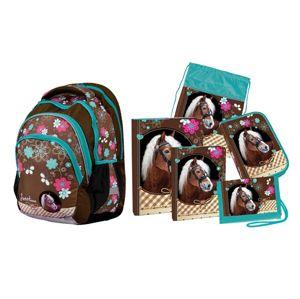 Školní set Sweet Horse Junior (batoh + penál + sáček + peněženka + boxy na sešity A4 a A5)
