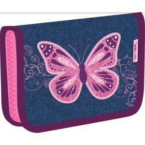 Školní penál Belmil - Purple flying butterfly