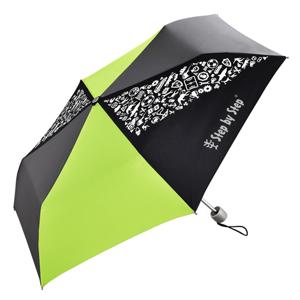 Dětský skládací deštník Step by Step - černý/šedý/zelený