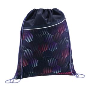 Sportovní pytel na záda CoocaZoo - RocketPocket - Purple Illusion