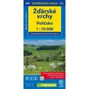 Žďárské vrchy, Poličsko - cyklo KP č.141 - 1:70t