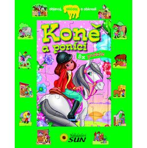 Koně a poníci 8x puzzle