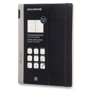 Moleskine: Professional diář-zápisník měkký černý XL (1) - neuveden